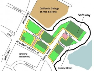 Transbay Blog alternative vision for Pleasant Valley Safeway site