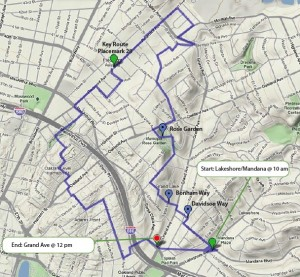 Oakland Urban Paths Walks & Shop Map