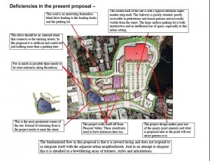 Deficiencies in Pleasant Valley Safeway Proposal