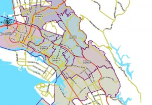 Oakland Council District Map