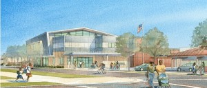 Rendering of East Oakland Community Library