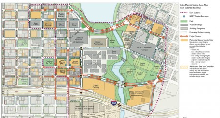 Lake Merritt Station Area Plan East subarea map