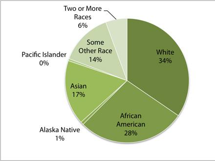 Oakland 2010 population by race