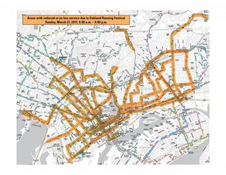 AC Transit Service Disruptions Oakland Marathon