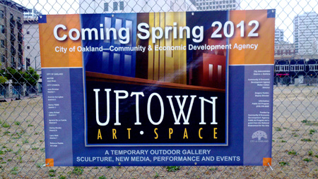 Photo of coming soon sign for Uptown Art Space